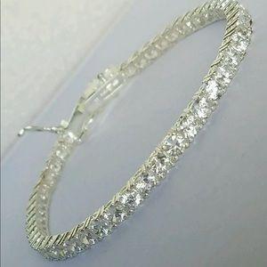 925 Sterling Silver Diamond Tennis Bracelet